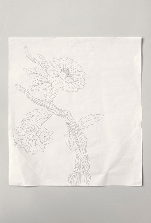 Tree of Life pencil drawing on white paper